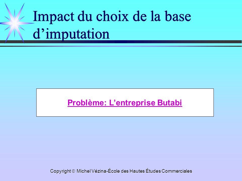 Impact du choix de la base d'imputation