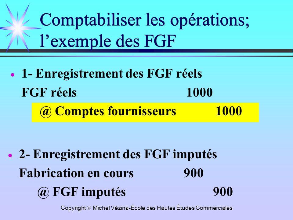 Comptabiliser les opérations; l'exemple des FGF
