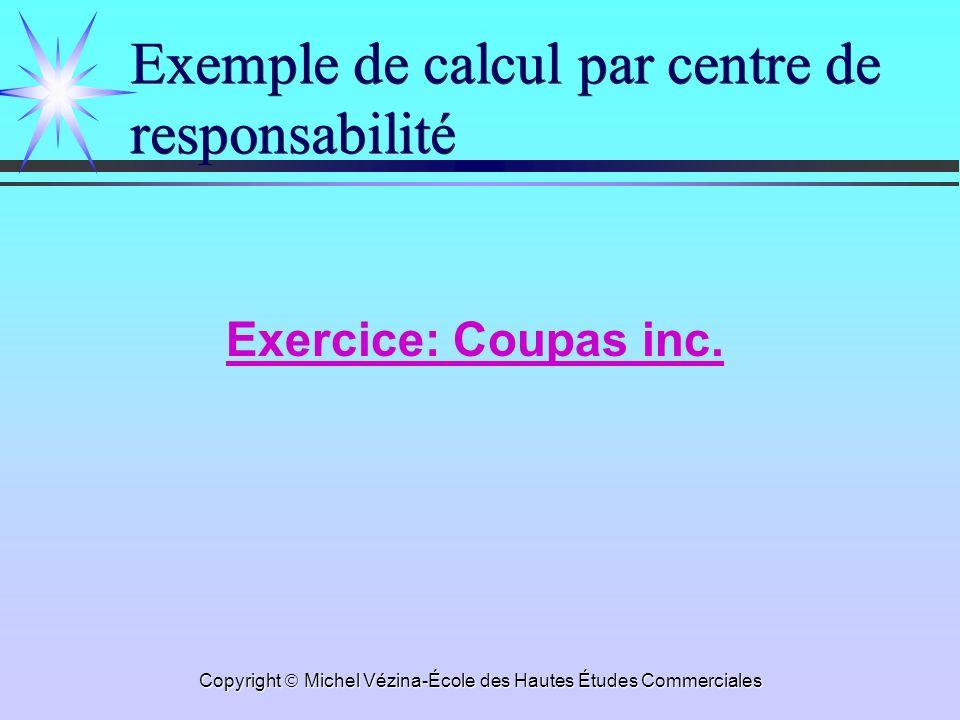 Exemple de calcul par centre de responsabilité