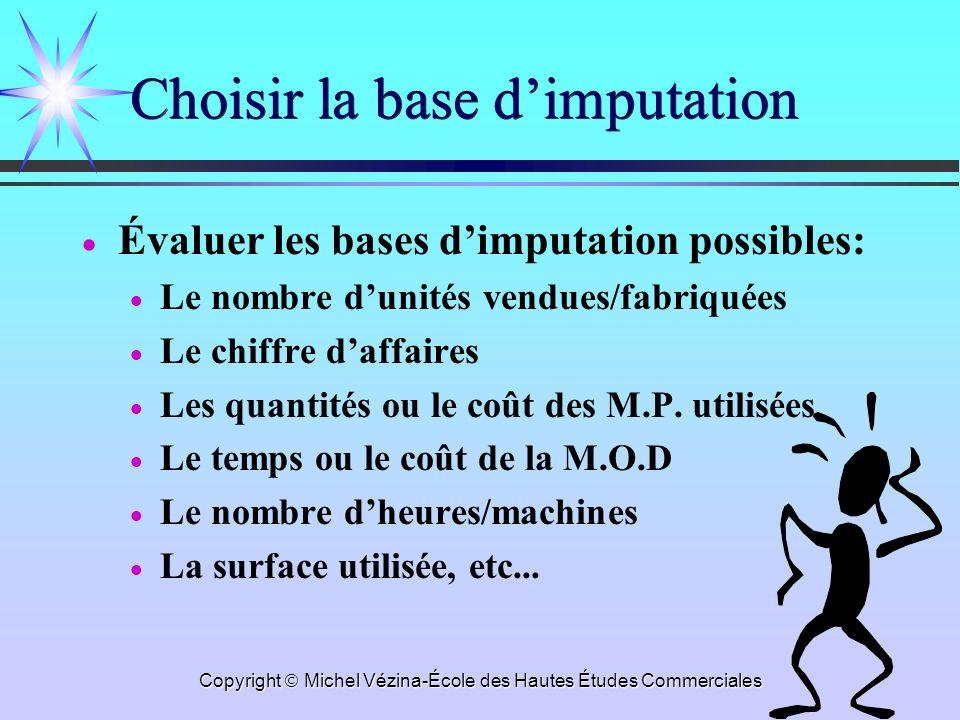 Choisir la base d'imputation