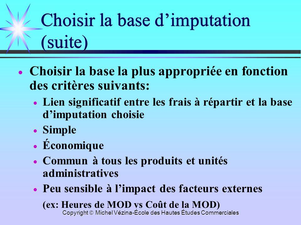 Choisir la base d'imputation (suite)