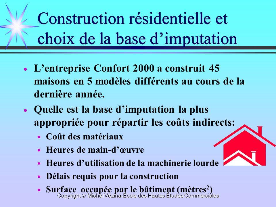 Construction résidentielle et choix de la base d'imputation
