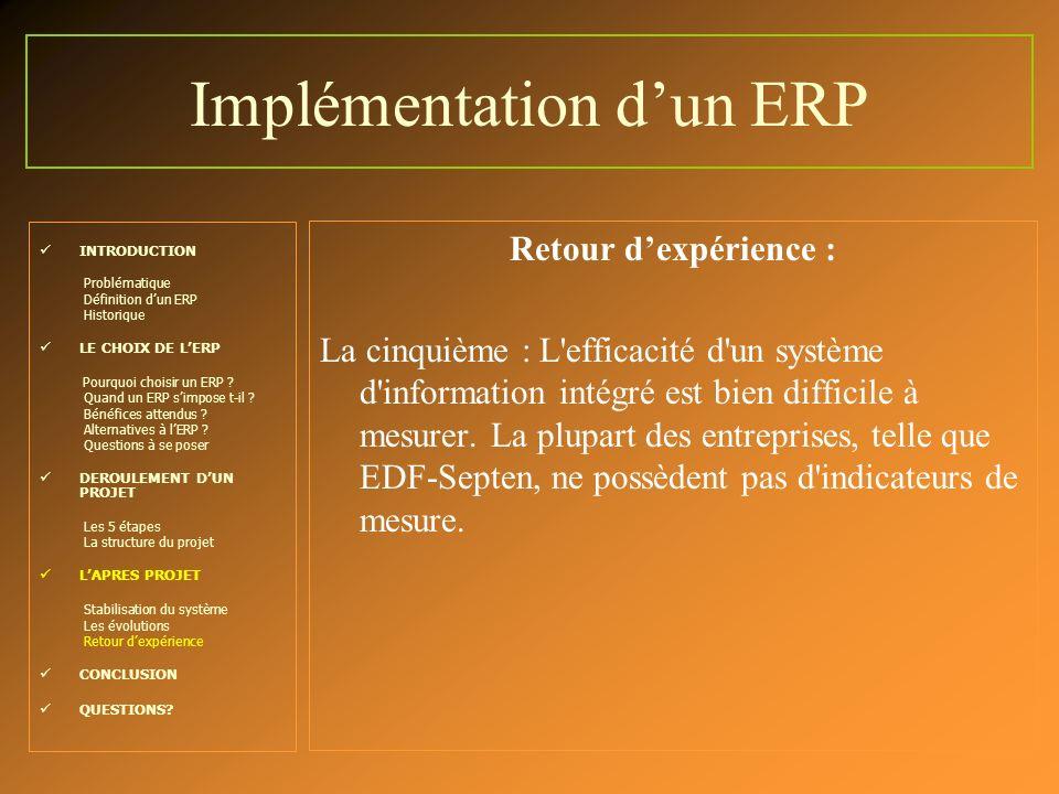 Implémentation d'un ERP