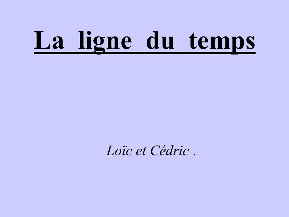 La ligne du temps Loïc et Cédric .