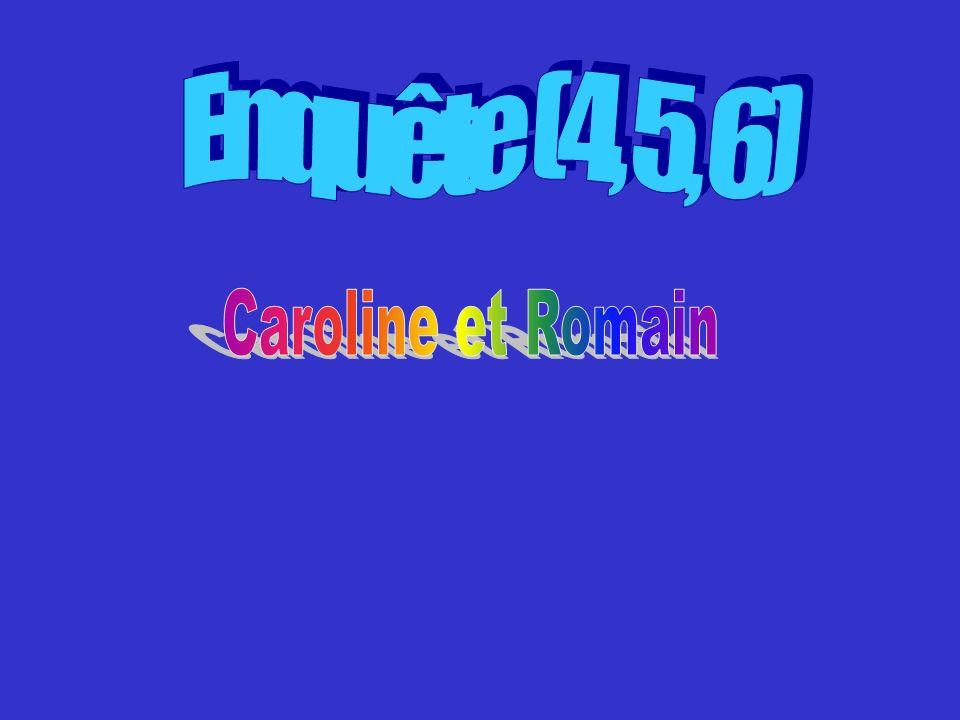 Enquête (4, 5, 6) Caroline et Romain