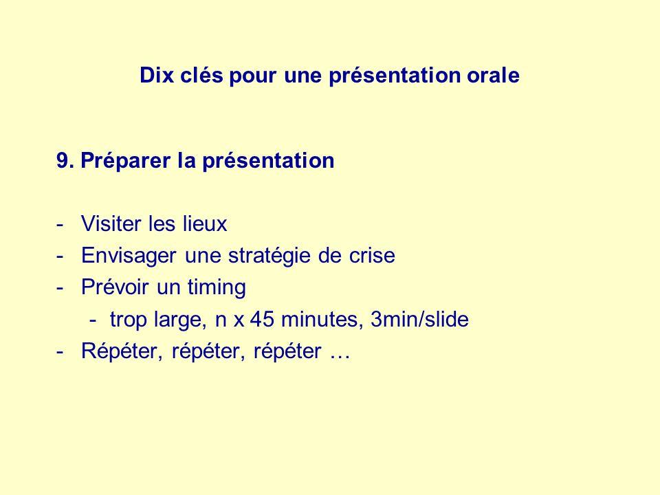 Dix clés pour une présentation orale