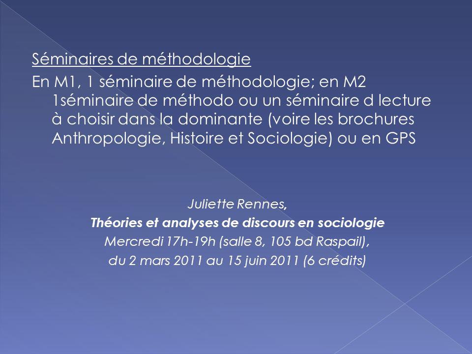Théories et analyses de discours en sociologie