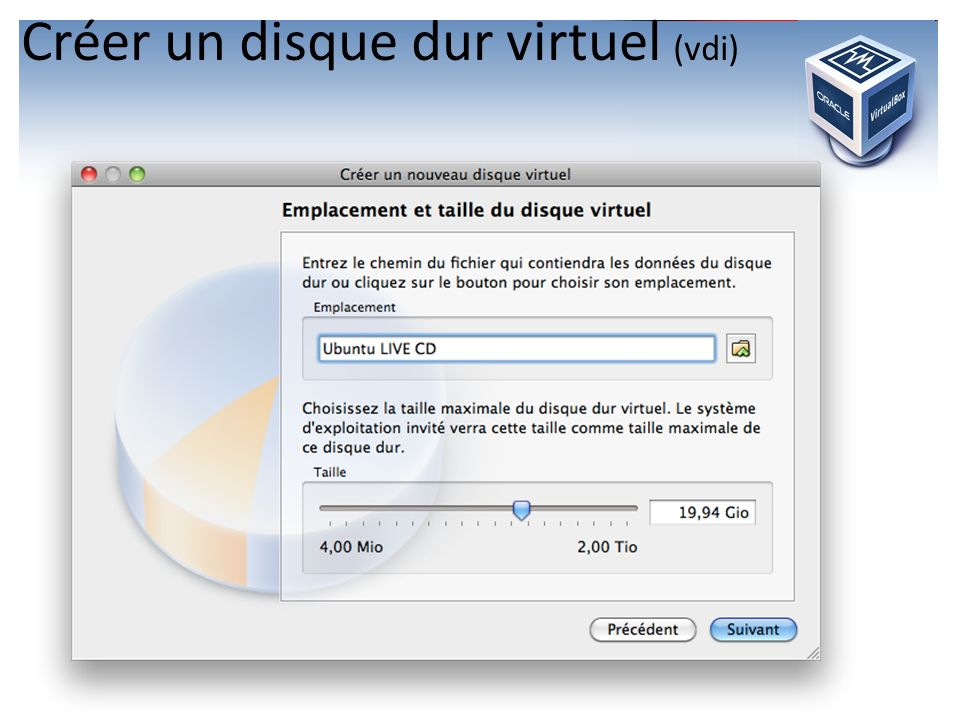 Créer un disque dur virtuel (vdi)