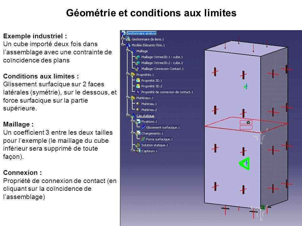 Géométrie et conditions aux limites