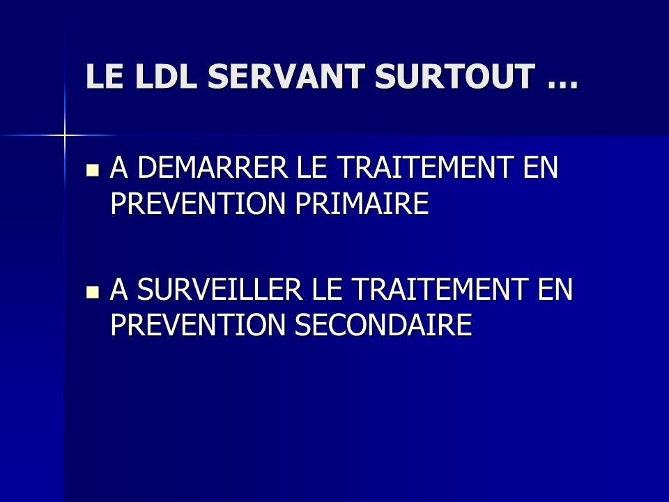 LE LDL SERVANT SURTOUT …
