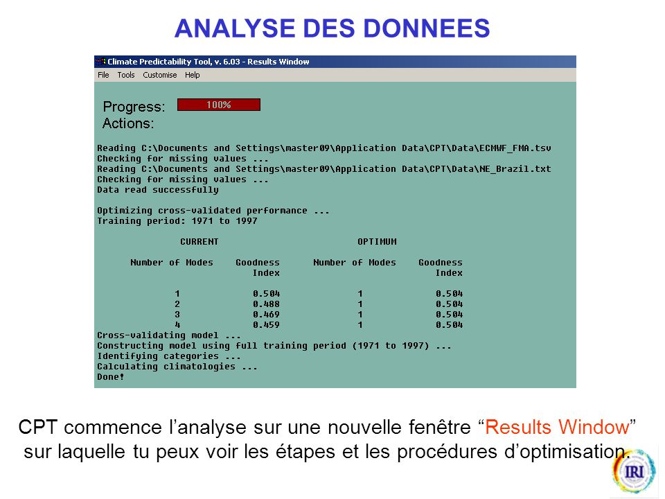 ANALYSE DES DONNEES