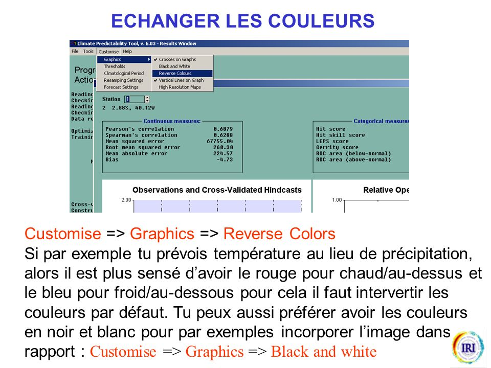 ECHANGER LES COULEURS Customise => Graphics => Reverse Colors