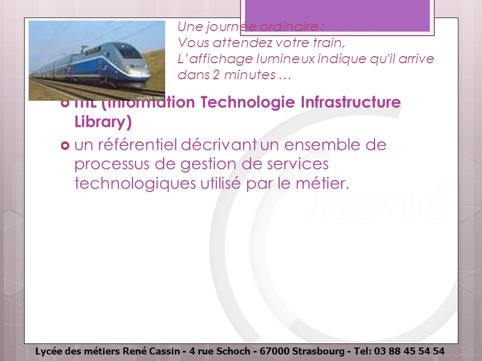 ITIL (Information Technologie Infrastructure Library)