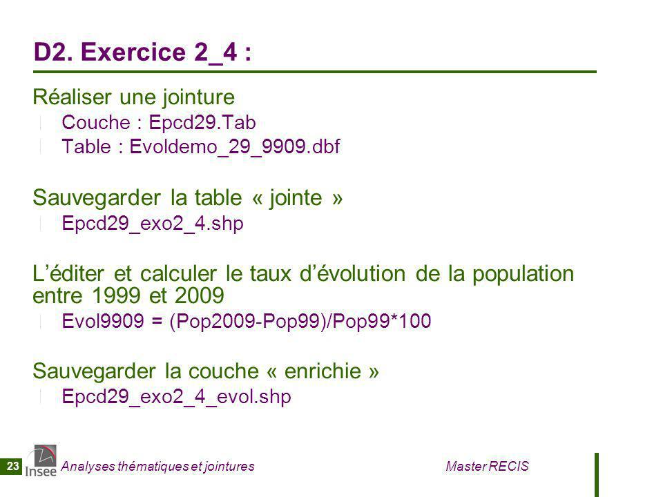 D2. Exercice 2_4 : Sauvegarder la table « jointe »