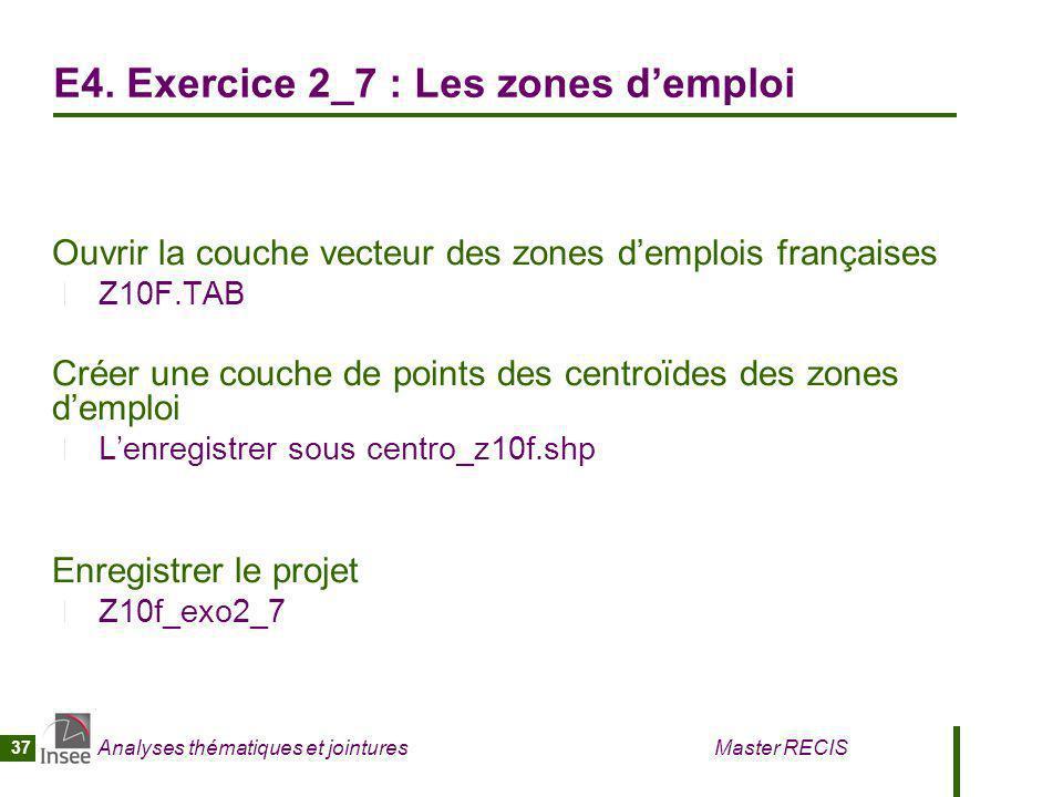 E4. Exercice 2_7 : Les zones d'emploi