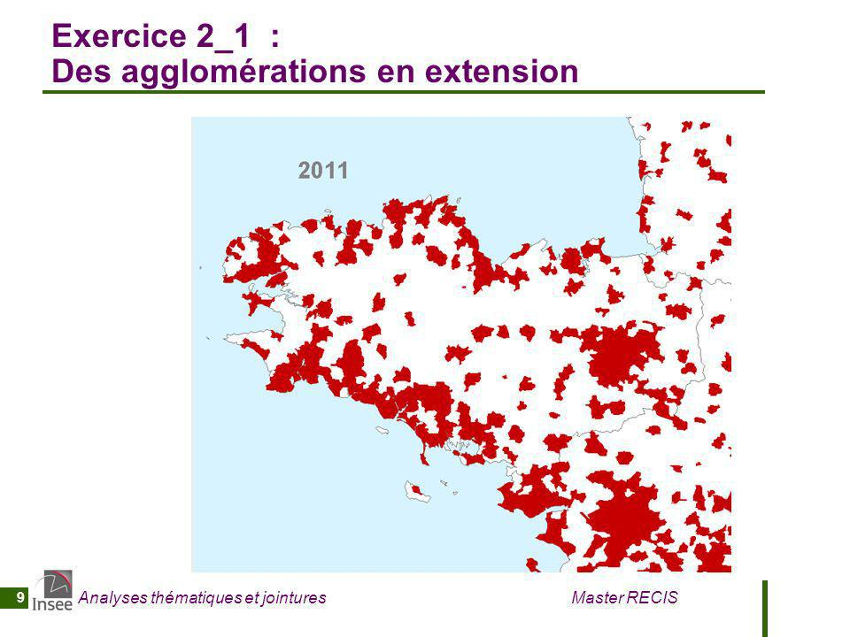 Exercice 2_1 : Des agglomérations en extension