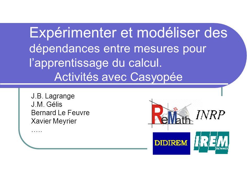 J.B. Lagrange J.M. Gélis Bernard Le Feuvre Xavier Meyrier …..