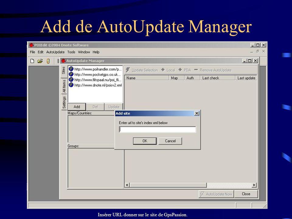 Add de AutoUpdate Manager