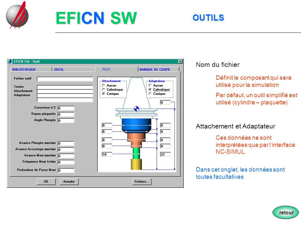 EFICN SW OUTILS Nom du fichier Attachement et Adaptateur