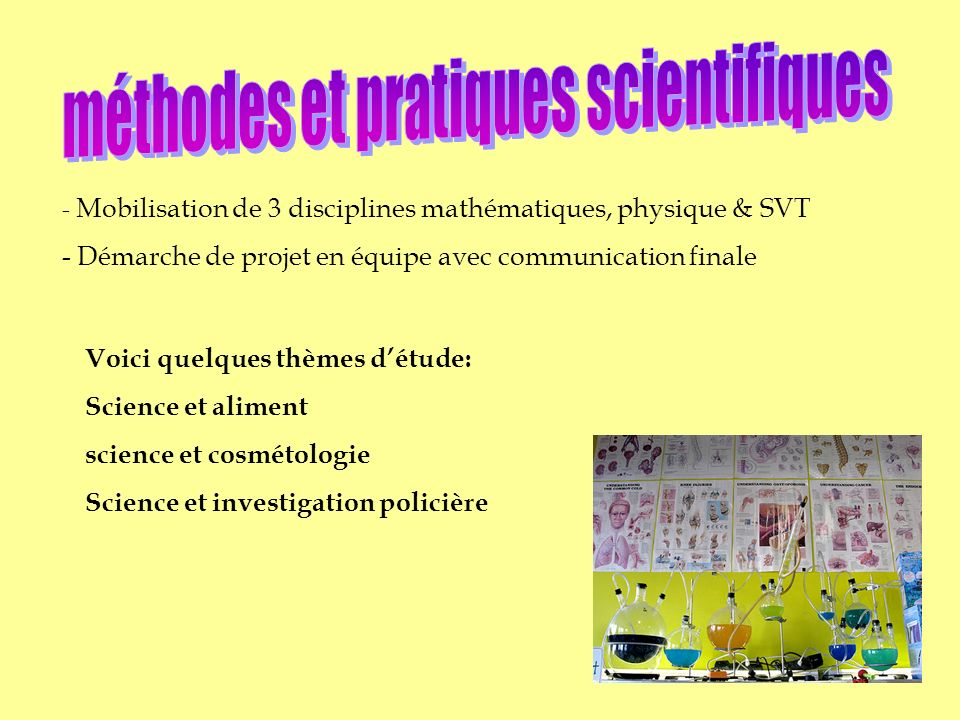méthodes et pratiques scientifiques