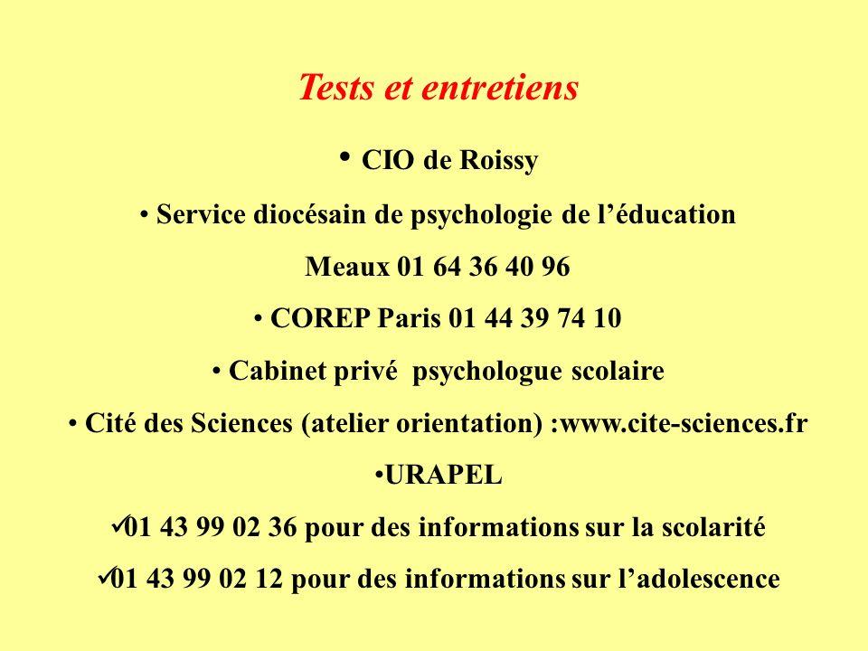Tests et entretiens CIO de Roissy