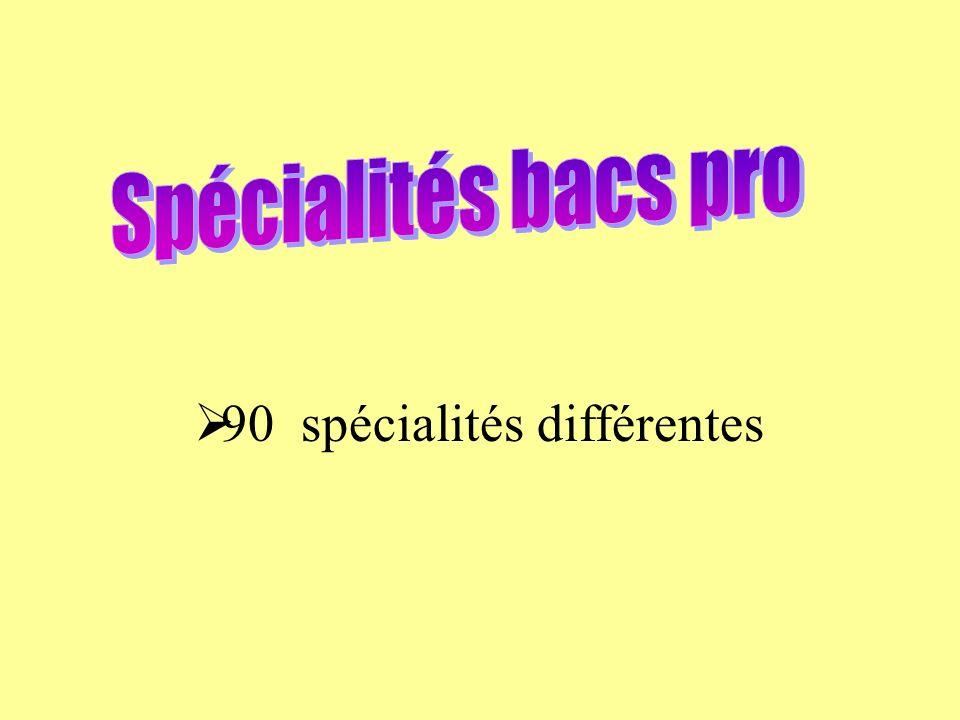 90 spécialités différentes