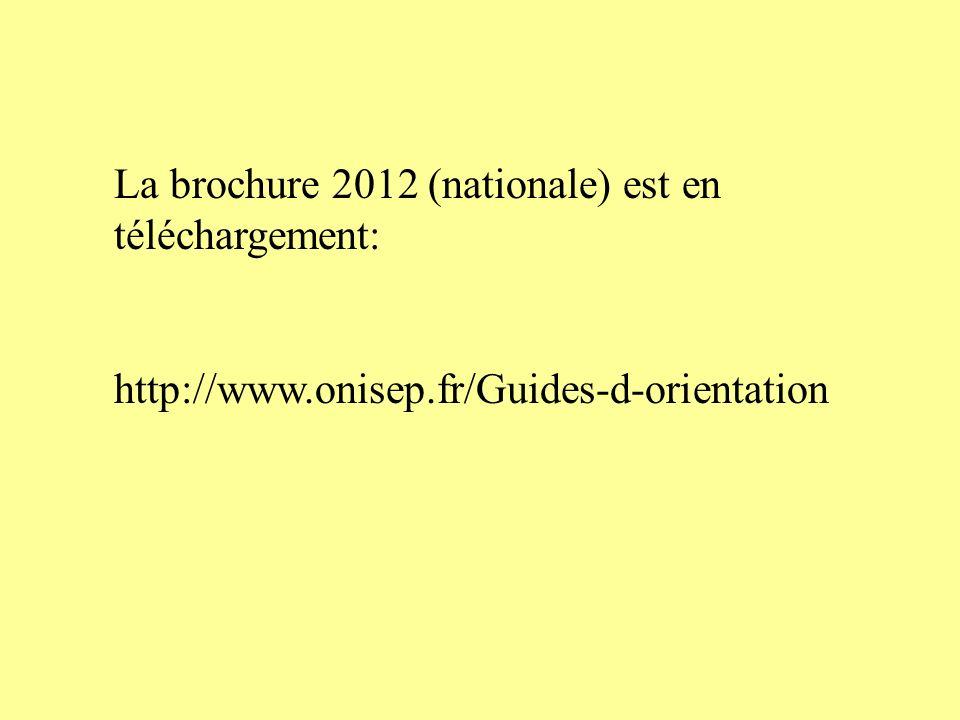 La brochure 2012 (nationale) est en téléchargement: