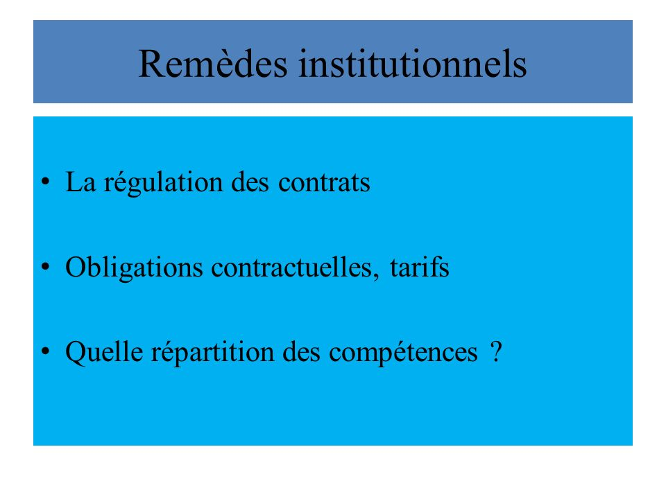 Remèdes institutionnels