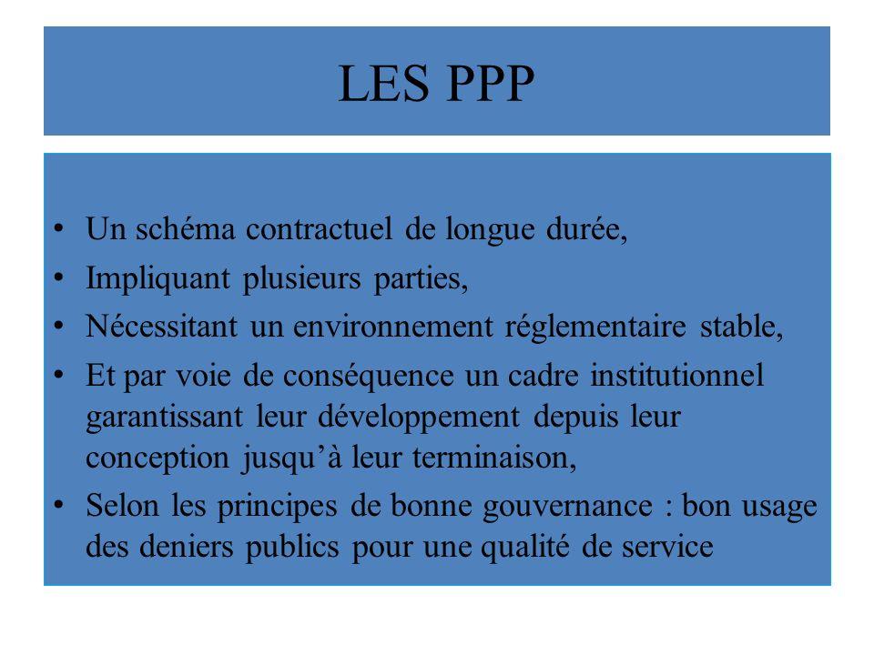 LES PPP Un schéma contractuel de longue durée,
