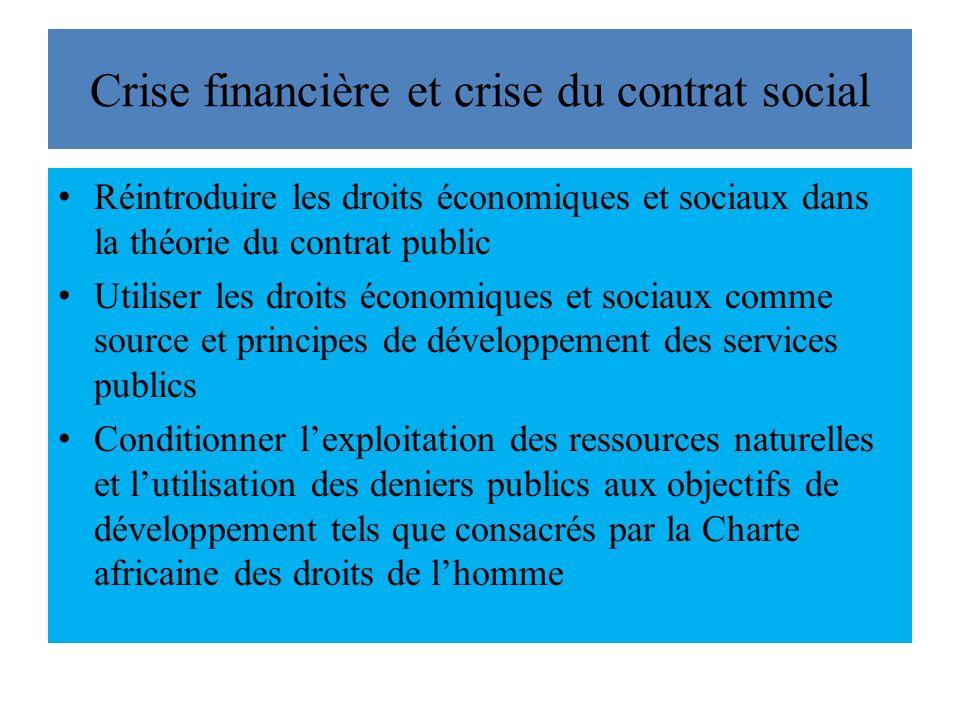 Crise financière et crise du contrat social