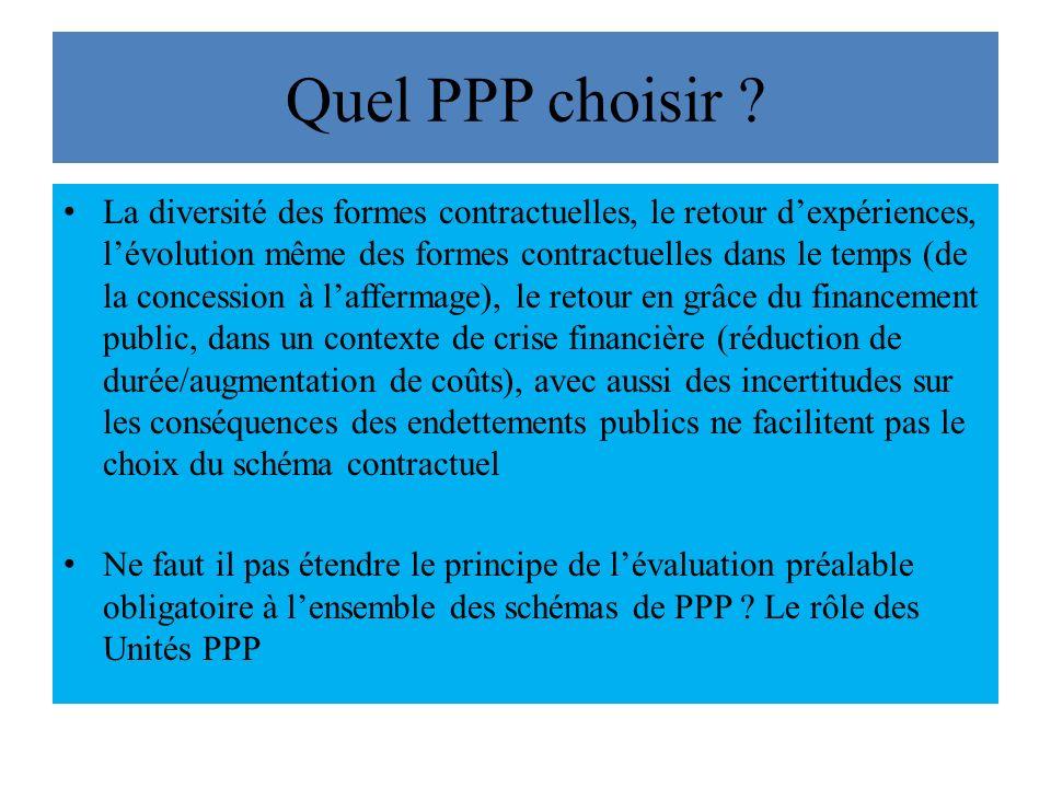 Quel PPP choisir
