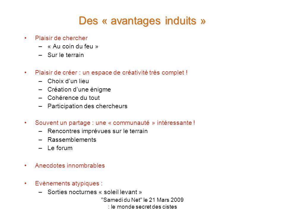Des « avantages induits »