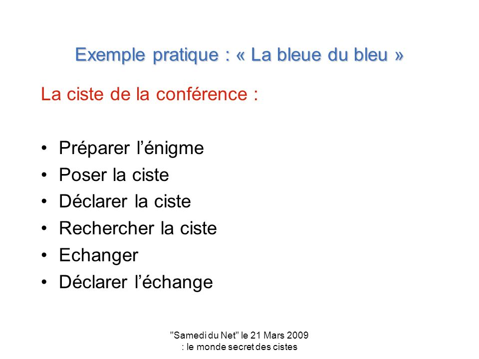 Exemple pratique : « La bleue du bleu »
