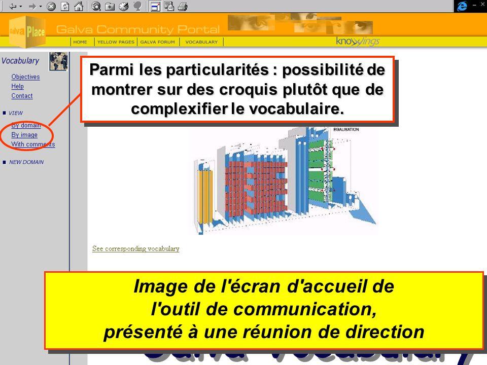 Galva Vocabulary Image de l écran d accueil de