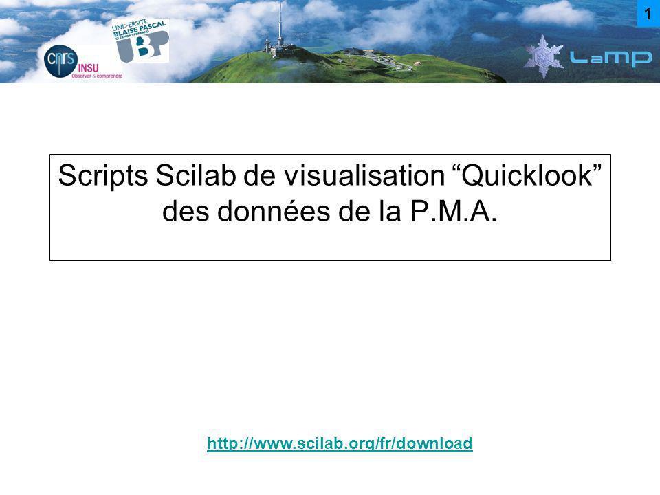 Scripts Scilab de visualisation Quicklook des données de la P.M.A.