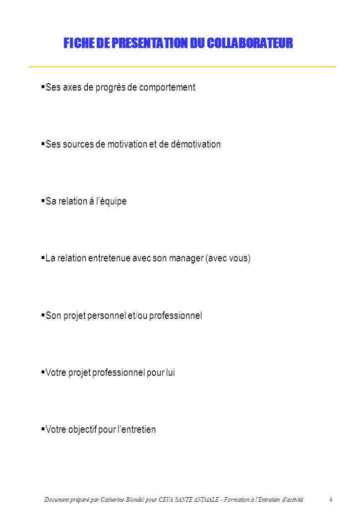 FICHE DE PRESENTATION DU COLLABORATEUR