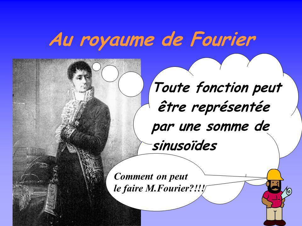 Au royaume de Fourier Toute fonction peut être représentée
