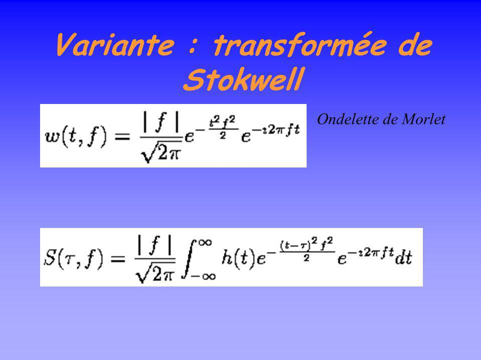 Variante : transformée de Stokwell