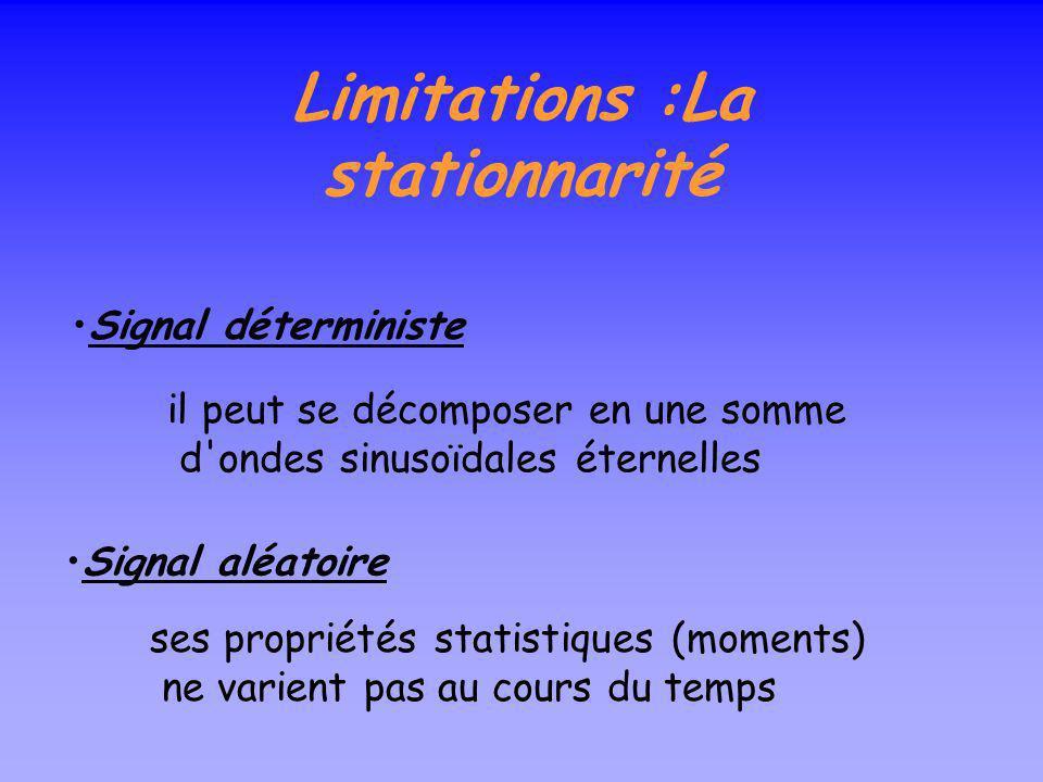 Limitations :La stationnarité