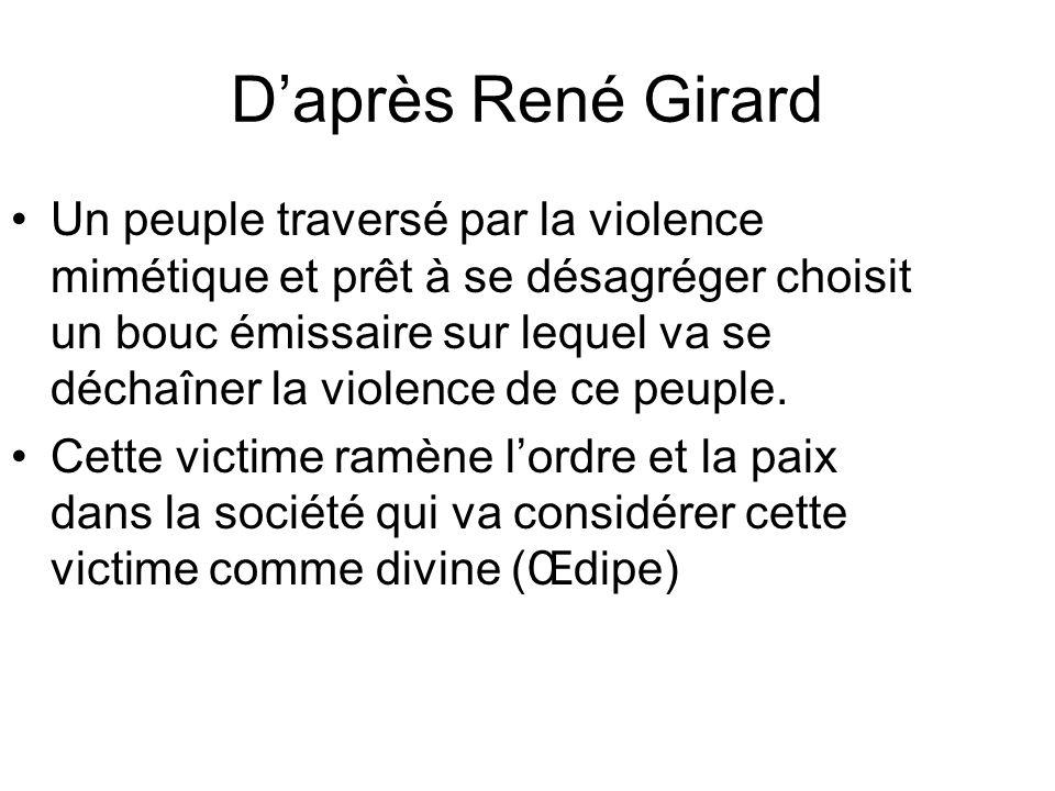 D'après René Girard