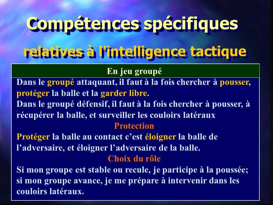 Compétences spécifiques