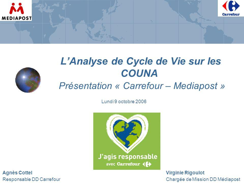 L'Analyse de Cycle de Vie sur les COUNA Présentation « Carrefour – Mediapost »