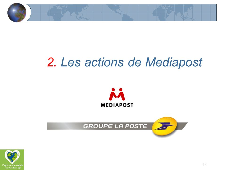 2. Les actions de Mediapost