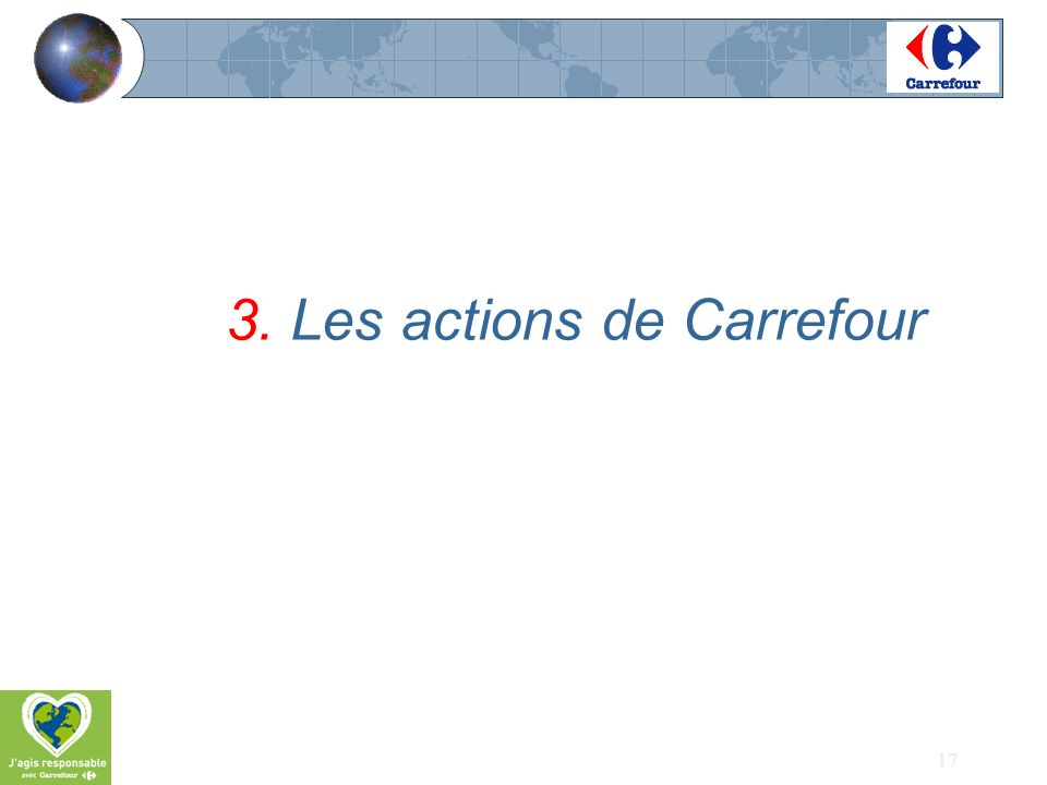 3. Les actions de Carrefour