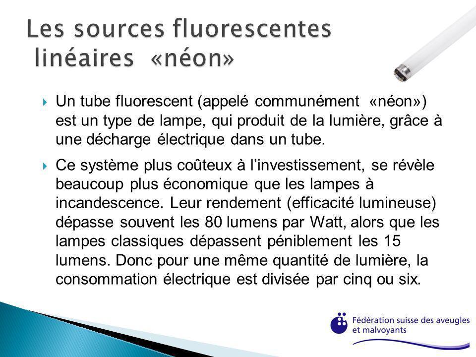 Les sources fluorescentes linéaires «néon»