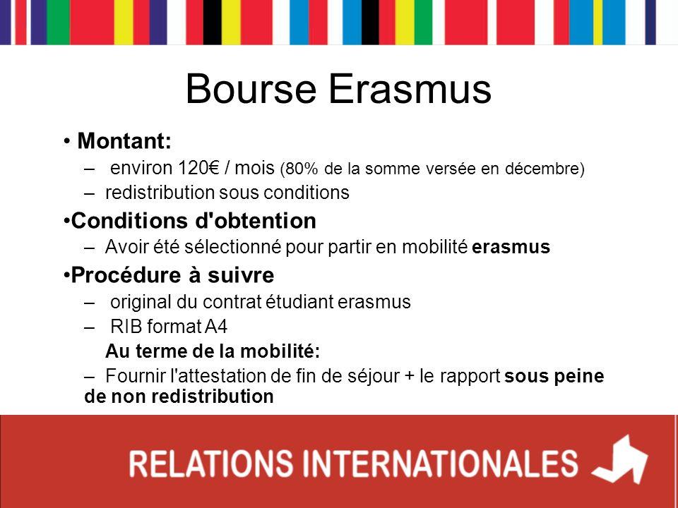 Bourse Erasmus Montant: Conditions d obtention Procédure à suivre