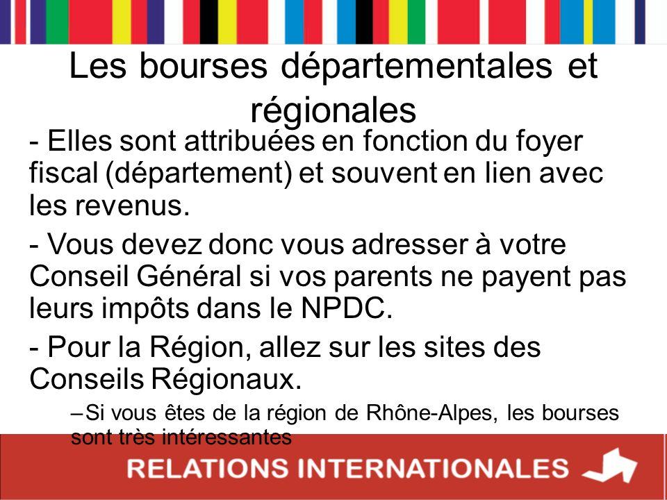 Les bourses départementales et régionales