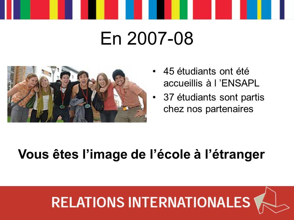 En 2007-08 Vous êtes l'image de l'école à l'étranger
