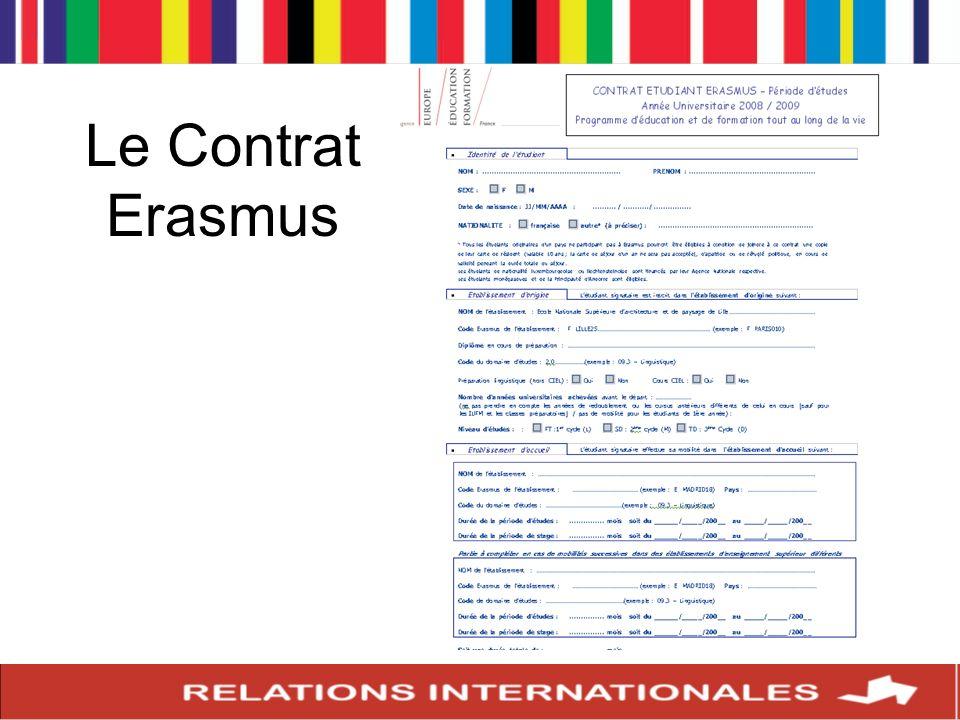 Le Contrat Erasmus