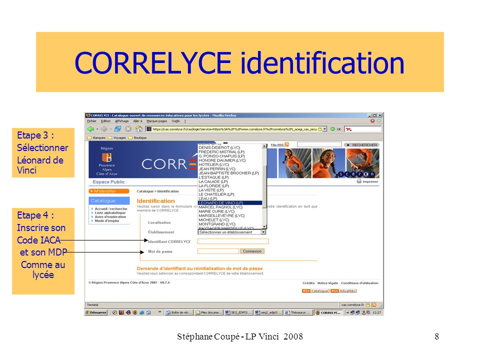 CORRELYCE identification